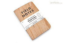 "Field Notes Memo Book - Three Cherry Wood - 3.5"" x 5.5"" - 48 Pages - Graph - Pack of 3 - FIELD NOTES FN-23"