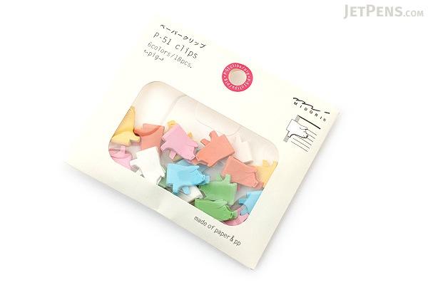 Midori P-51 Paper Clips - Pig - MIDORI 43300-006