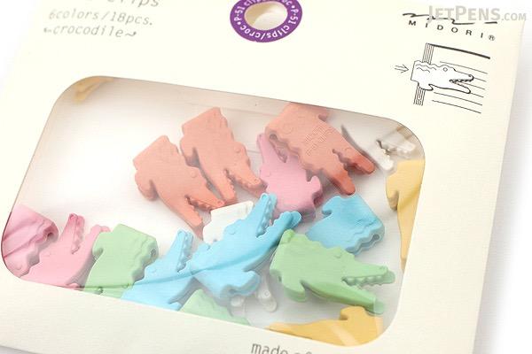 Midori P-51 Paper Clips - Crocodile - MIDORI 43303-006