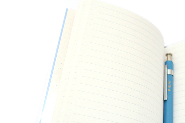 Kokuyo Buncobon Dot Cover Notebook - A6 - Normal Rule - 23 Lines - Light Blue - KOKUYO NO-BU47B-LB