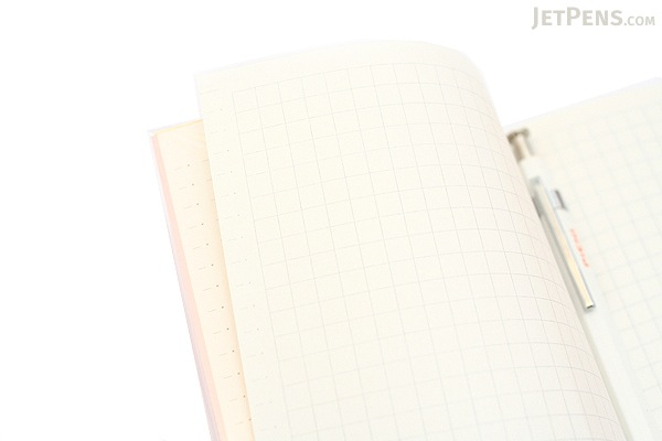 Kokuyo Buncobon Dot Cover Notebook - A6 - 5 mm Graph - Pink - KOKUYO NO-BU47S-P