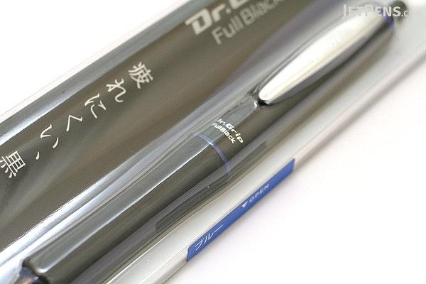 Pilot Dr. Grip Full Black Ballpoint Pen - 0.7 mm - Blue Accents - PILOT BDGFB-80F-L