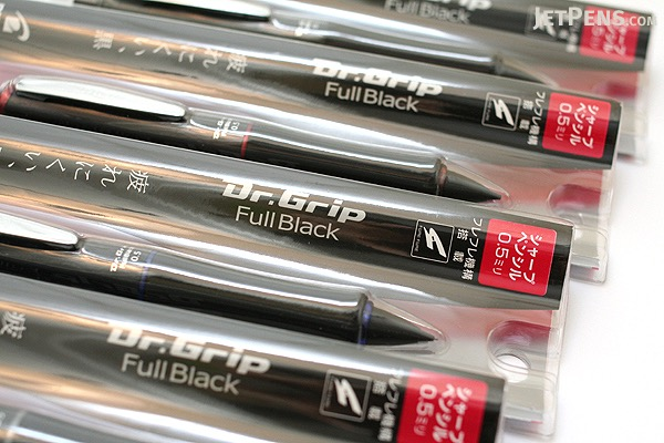 Pilot Dr. Grip Full Black Shaker Mechanical Pencil - 0.5 mm - Silver Accents - PILOT HDGFB-80R-S