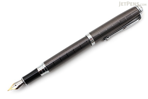 Regal 503 Hadrian Fountain Pen - Gunmetal - Medium Nib - REGAL 503F-GU