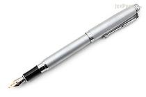 Regal 503 Hadrian Fountain Pen - Satin Silver Chrome - Medium Nib - REGAL 503F-SS