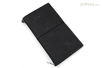 Midori Traveler's Notebook Starter Kit - Regular Size - Black Leather - MIDORI 13714-006