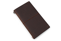 Traveler's Notebook Starter Kit - Regular Size - Brown Leather - TRAVELER'S 13715006