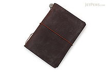 Midori Traveler's Notebook Starter Kit - Passport Size - Brown Leather - MIDORI 15027-006
