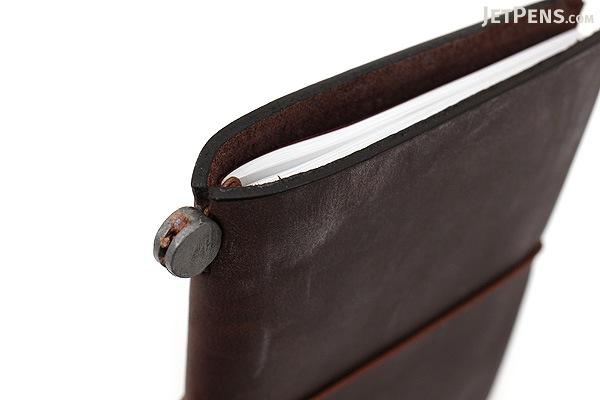 Traveler's Notebook Starter Kit - Passport Size - Brown Leather - TRAVELER'S 15027006