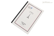 Apica Paris Motif Notebook - Semi B5 - 6.5 mm Rule - NT40A Border Gray - APICA NT40A