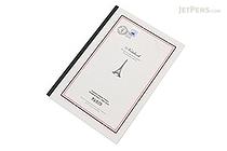 Apica Paris Motif Notebook - Semi B5 - 6.5 mm Rule - NT40A Border Gray - APICA NT40A