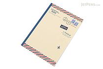 Apica Paris Motif Notebook - Semi B5 - 6.5 mm Rule - NT40B Airmail Beige - APICA NT40B