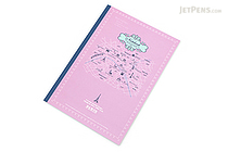 Apica Paris Motif Notebook - Semi B5 - 6.5 mm Rule - NT40C Map Lilac - APICA NT40C