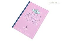 Apica Paris Motif Notebook - Semi B5 - 6.5 mm Rule - NT40C Map Lilac - APICA NT40C