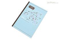 Apica Paris Motif Notebook - Semi B5 - 6.5 mm Rule - NT40D Map Blue - APICA NT40D