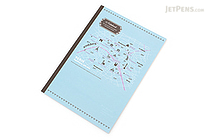 Apica Paris Motif Notebook - Semi B5 - 6.5 mm Rule - NT40D Map Blue - APICA NT40D