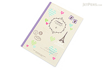 Apica Paris Motif Notebook - Semi B5 - 6.5 mm Rule - NT40E Hearts Gray - APICA NT40E
