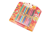 Zebra Limited Edition Sarasa Clip Chupa Chups Scented Gel Pen - 0.5 mm - 10 Color Set - ZEBRA JJ29-CC-10C