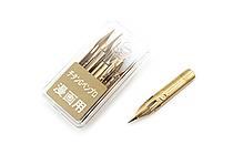 Zebra Comic Pen Nib - G Pen Pro - Titanium - Pack of 10 - ZEBRA PG-7B-C-K