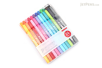 Tombow Play Color 2 Double-Sided Marker - 0.4 mm / 1.2 mm - 24 Color Set - TOMBOW GCB-012