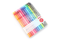 Tombow Play Color 2 Double-Sided Marker - 0.4 mm / 1.2 mm - 36 Color Set - TOMBOW GCB-013