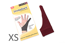 SmudgeGuard SG1 1-Finger Glove - Rich Burgundy - Extra Small - SMUDGE GUARD SG1-RB-XS