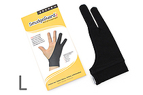 SmudgeGuard2 SG2 2-Finger Glove - Cool Black - Large - SMUDGE GUARD SG2-CB-L
