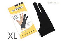 SmudgeGuard2 SG2 2-Finger Glove - Cool Black - Extra Large - SMUDGE GUARD SG2-CB-XL