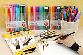 New Products: Handy SmudgeGuard Gloves, Premium Comic Pen Nibs, Lead Holders, Colorful Markers, and More!