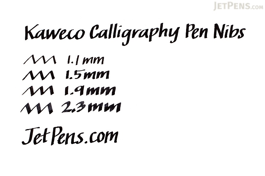 Kaweco Calligraphy Fountain Pen Replacement Nib - 2.3 mm - Black Body - KAWECO 10001138