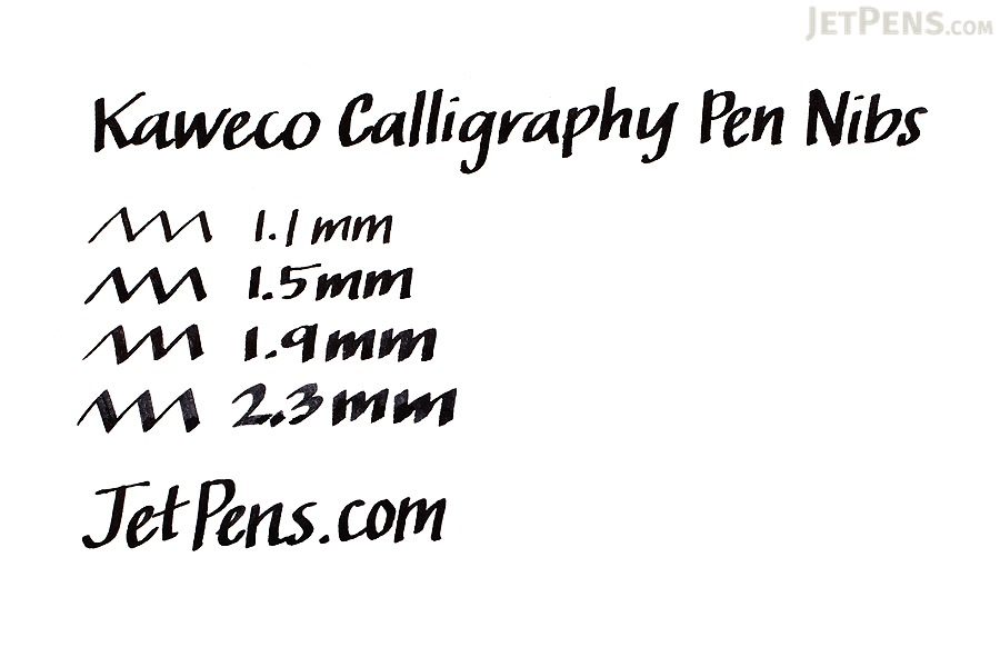 Kaweco Calligraphy Fountain Pen Replacement Nib - 1.1 mm - Black Body - KAWECO 10001135