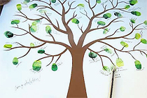 Wedding Guest Book Tree Signed with Hi-Tec-C Pens