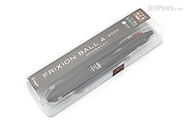 Pilot FriXion Ball 4 Wood 4 Color Gel Ink Multi Pen - 0.5 mm - Black - PILOT LKFB-3SEF-B