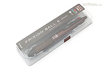 Pilot FriXion Ball 4 Wood 4 Color Gel Ink Multi Pen - 0.5 mm - Brown - PILOT LKFB-3SEF-BN
