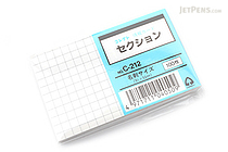 Correct Joho Index Cards - 9.1 x 5.5 cm - Graph - 100 Cards - CORRECT C-212