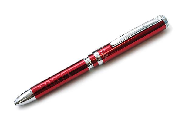 Platinum MWBP-3000 Pocket 2 Color 0.7 mm Ballpoint Multi Pen + 0.5 mm Pencil - Rouge Body - PLATINUM MWBP-3000 70