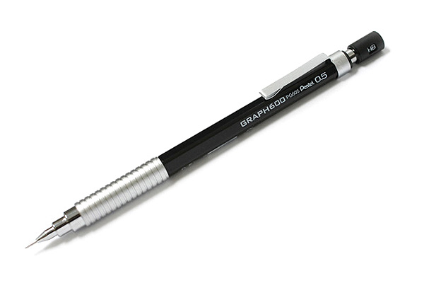 Pentel Graph 600 Drafting Pencil - 0.5 mm - Black Body - PENTEL PG605-A