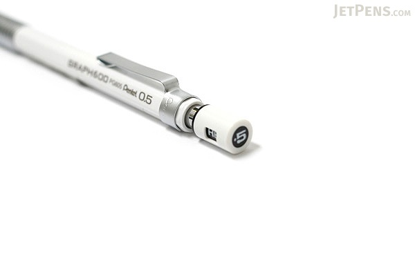 Pentel Graph 600 Drafting Pencil - 0.5 mm - White Body - PENTEL PG605-W