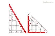Sonic Nano Pita Non-Slip Reversible Triangle Rulers - 10 cm - SONIC SK-7501