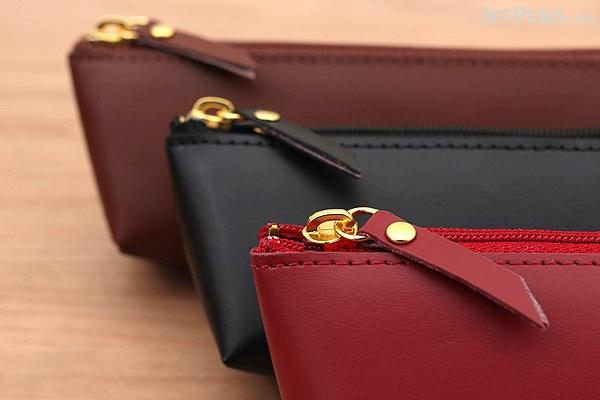 Raymay Gloire Leather Pen Case - Mini - Black - RAYMAY GLF1502B