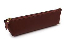 Raymay Gloire Leather Pen Case - Mini - Brown - RAYMAY GLF1502C