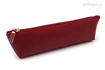 Raymay Gloire Leather Pen Case - Mini - Wine - RAYMAY GLF1502Z