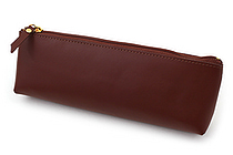 Raymay Gloire Leather Pen Case - Triangular Large - Brown - RAYMAY GLF1801C