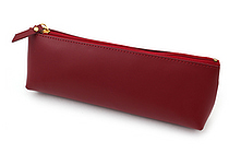 Raymay Gloire Leather Pen Case - Triangular Large - Wine - RAYMAY GLF1801Z