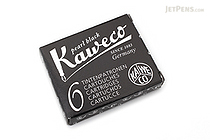 Kaweco Fountain Pen Ink Cartridge - Pearl Black - Pack of 6 - KAWECO 10000257