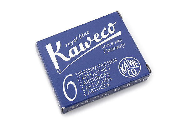 Kaweco Fountain Pen Ink Cartridge - Royal Blue - Pack of 6 - KAWECO 10000256