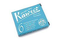 Kaweco Fountain Pen Ink Cartridge - Paradise Blue - Pack of 6 - KAWECO 10000260