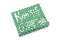 Kaweco Fountain Pen Ink Cartridge - Palm Green - Pack of 6 - KAWECO 10000009