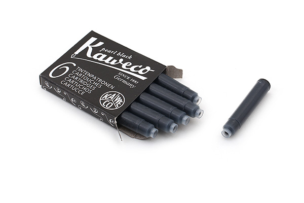 Kaweco Fountain Pen Ink Cartridge - Pearl Black - Pack of 6 - KAWECO 10000257