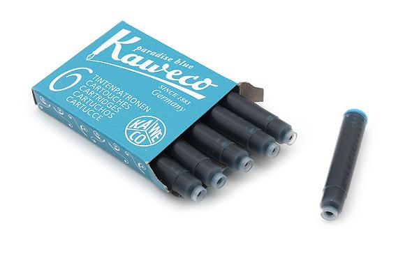 Kaweco Fountain Pen Ink Cartridge - Paradise Blue - Pack of 6 - KAWECO 10000260